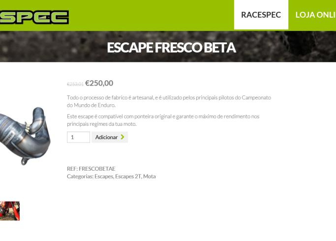 A Racespec Motos reforça a par e passo a sua nova loja Online